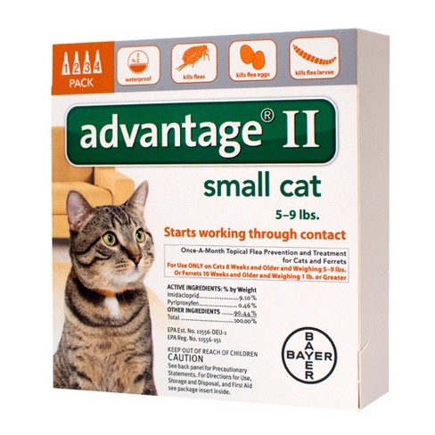 Bayer Advantage II Topical Flea Prevention and Treatment - Small Cats - 4ct - image 1 of 3