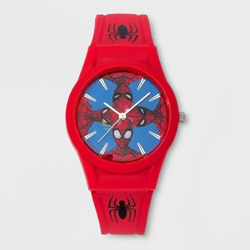 Kids' Marvel Spider-Man Analog Watch - China Red - image 1 of 2