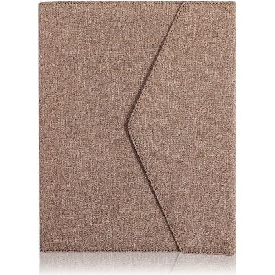 Light Brown Portfolio Folder, Business Padfolio (12.5 x 10 In)