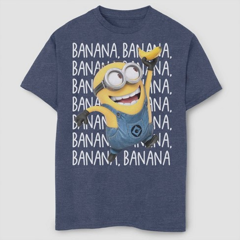 Boys' Despicable Me Minions Gone Bananas T-Shirt - Navy - image 1 of 2