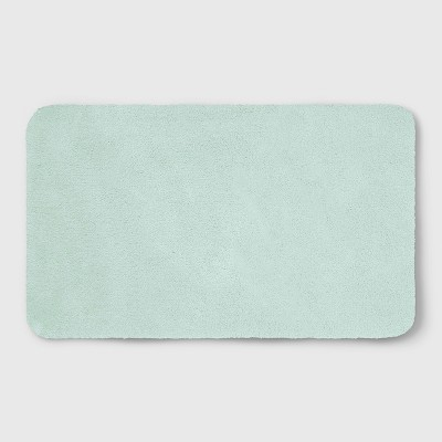 23 x37  Soft Nylon Solid Bath Rug Mint Green - Opalhouse™