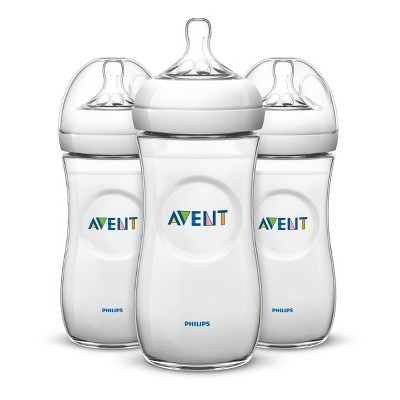 Philips Avent 3pk Natural Baby Bottle 11oz - Clear