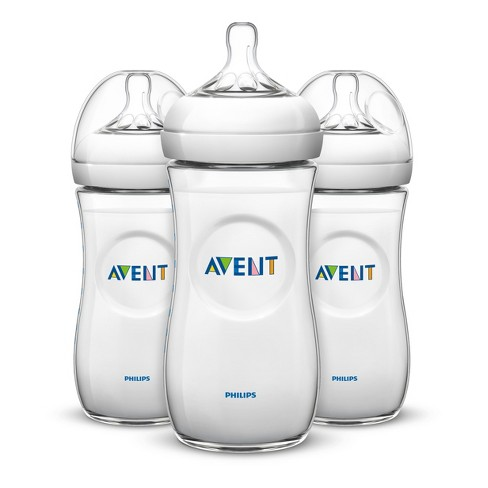 Philips Avent 3pk Natural Baby Bottle 11oz - Clear - image 1 of 9