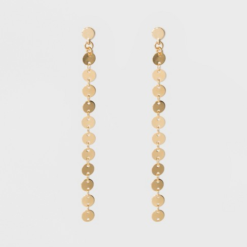 SUGARFIX by BaubleBar Gold Coin Drop Earrings - Gold