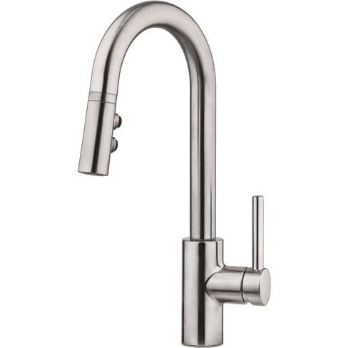 Pfister LG572-SA Stellen Pull-Down Spray High Arc Kitchen Faucet