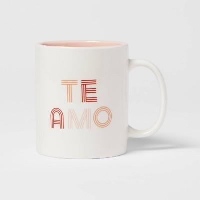 15oz Stoneware Te Amo Mug - Room Essentials™