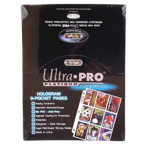 100 Ultra Pro Game Platinum 9 Pocket Sheets