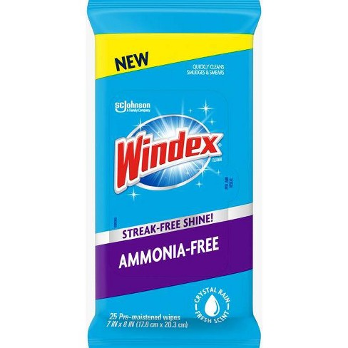 Windex Ammonia Free Fresh Scent Pre-Moistened Wipes - 25ct - image 1 of 4