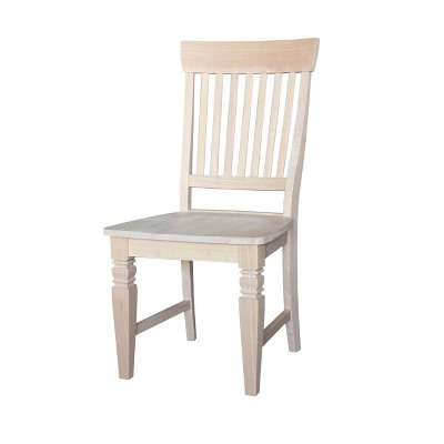 Set of 2 Tall Java Chair Unfinished - International Concepts