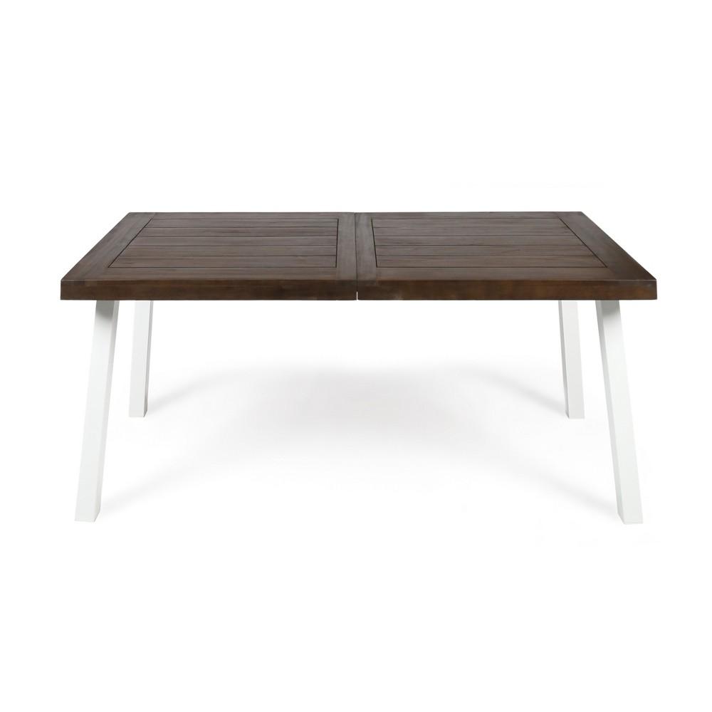 Della Rectangle Acacia Dining Table - Dark Brown - Christopher Knight Home