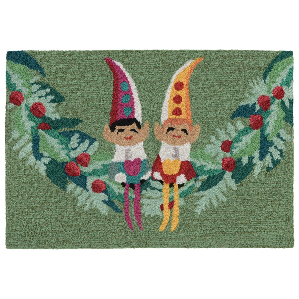 """Image of """"1'8""""""""X2'6"""""""" People Tufted Accent Rug Green - Liora Manne"""""""