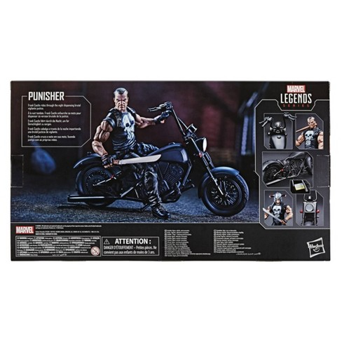 """Hasbro Marvel Legends Series 6"""" Collectible Action Figure The Punisher With Motorcycle - image 1 of 1"""