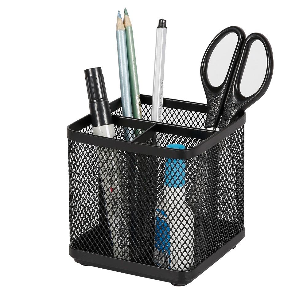 Mesh Pencil Holder Black - Made By Design