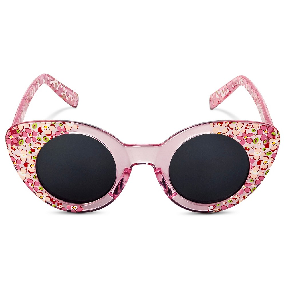 Toddler Girls' Floral Cateye Sunglasses Pink One Size - Circo