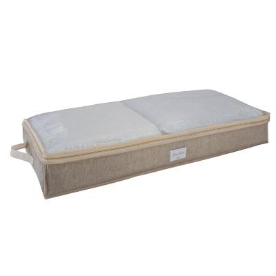 Simplify 2pk Under the Bed Storage Bag Beige