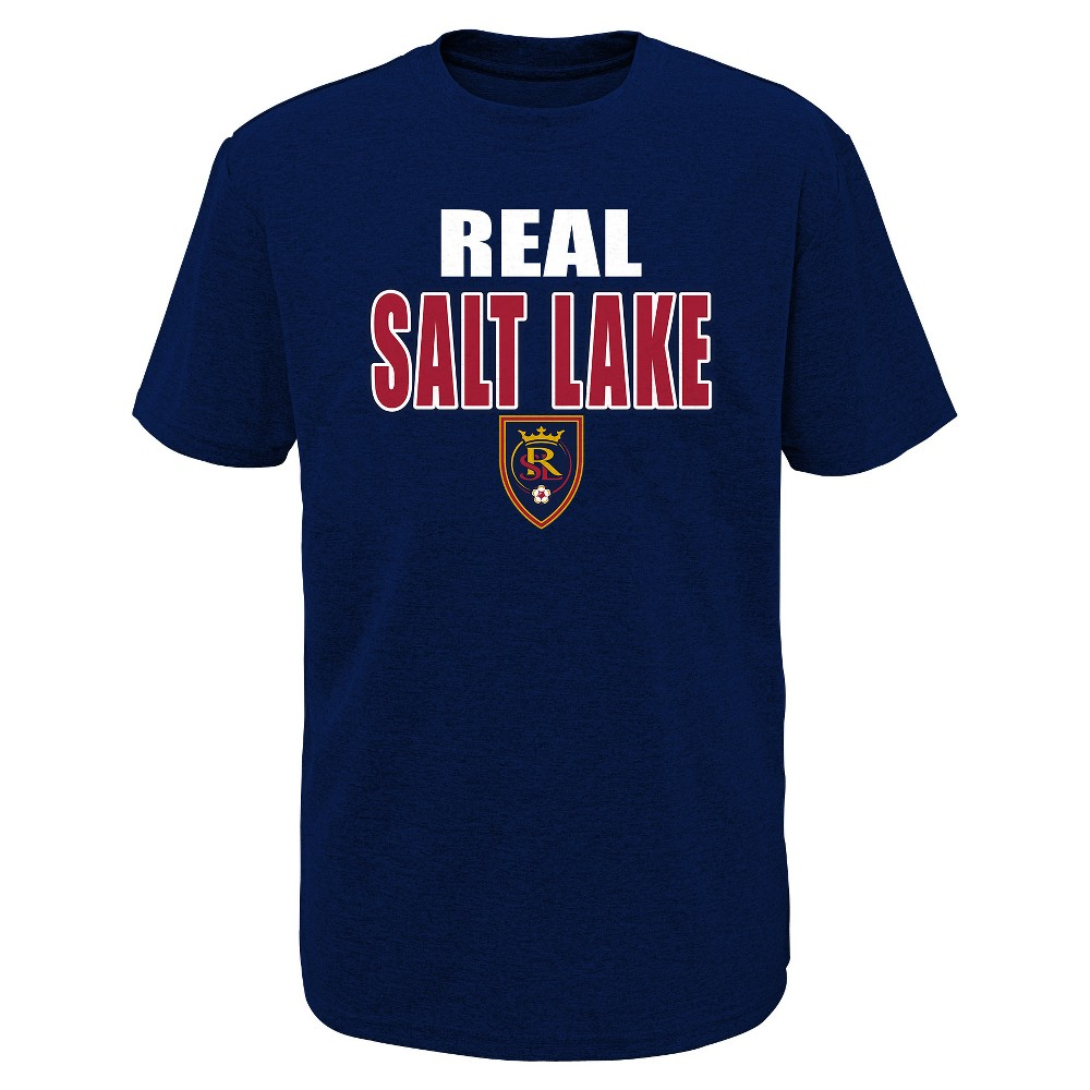 Mls Boys Short Sleeve Black Poly T-Shirt Real Salt Lake - XS, Multicolored