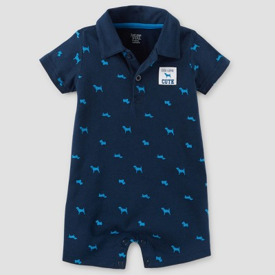 Baby Boys' One Piece Dogs Polo Romper - Just One You™ Made by Carter's® Navy 18M