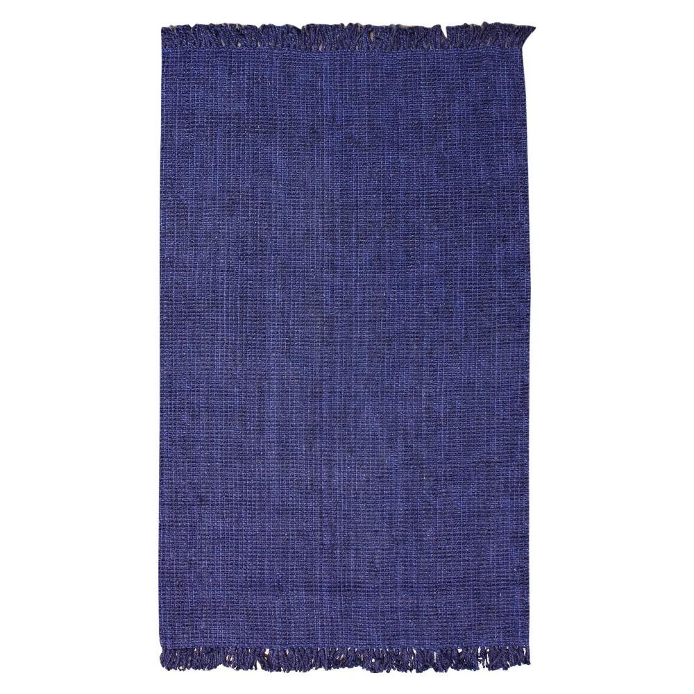 Blue Solid Tufted Area Rug - (6'x9') - nuLOOM, Navy Blue