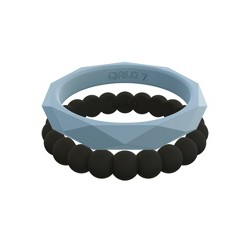 QALO Women's Stackable Silicone Ring Collection F