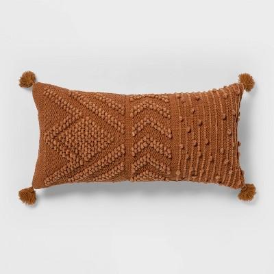 Oversize Embroidered Textured Lumbar Throw Pillow - Opalhouse™