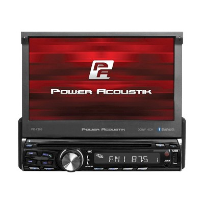 Power Acoustik PD-720B Single DIN Flip Up DVD and Bluetooth Multimedia Player with 7 Inch Touch Screen, AM/FM, MP3, and Auxiliary Functions