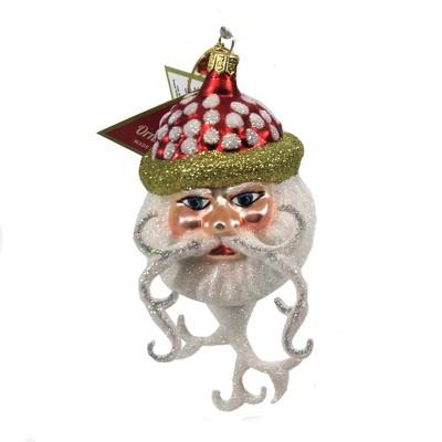 "Morawski 5.75"" Curly Cue Beard Santa Ornament Christmas Free Blown  -  Tree Ornaments"