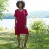 Women's Short Sleeve Clip Dot Dress - Knox Rose™ - image 3 of 4
