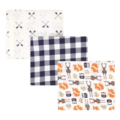 Hudson Baby Infant Boy Cotton Muslin Swaddle Blankets, Forest, One Size