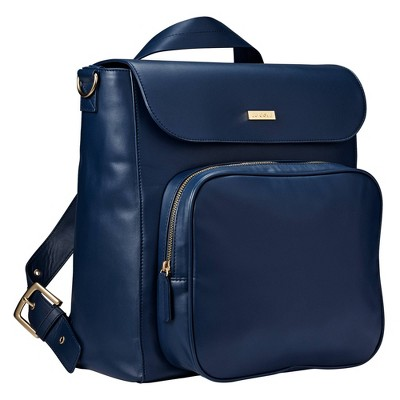 JJ Cole Vegan Leather Brookmont Backpack Diaper Bag - Oxford Navy