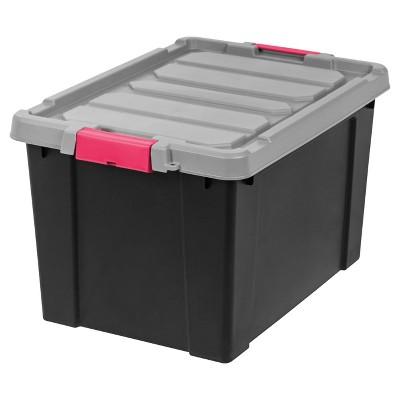 Heavy Duty Plastic Storage Bin   2pk