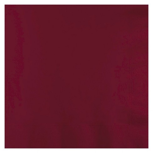 50ct Burgundy Red Disposable Napkins - image 1 of 1