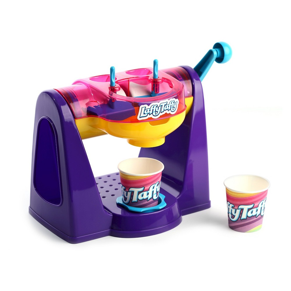 Amav Laffy Taffy Ice Cream Maker, Multi-Colored The most incredible 2-flavor Laffy Taffy ice cream maker. Yes, now children can make their own 2 flavors of Laffy Taffy ice cream at the same time, with a single cooling device, where each container can be used with a different flavor. No batteries required. No freezing required. Ice cream becomes ready within minutes. Note - does not include food materials. Suitable for age 5 years old and up. Warning: Choking Hazard -- Small parts. Not for children under 3 yrs. Color: Multi-Colored. Gender: Unisex.