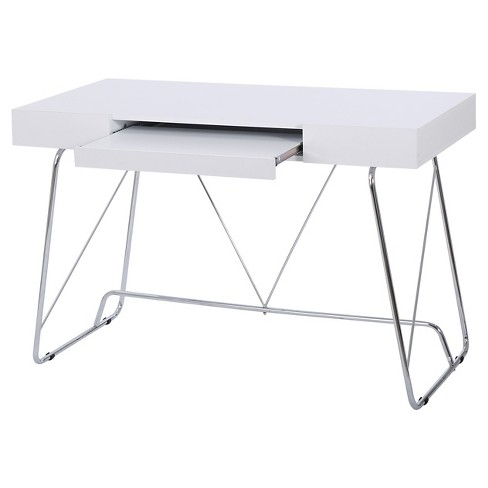 Heinrik Wood Computer Desk W Keyboard Tray White Christopher Knight Home