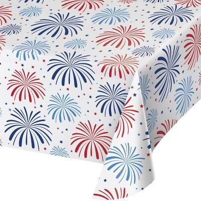 3ct Patriotic Pattern Disposable Plastic Tablecloths