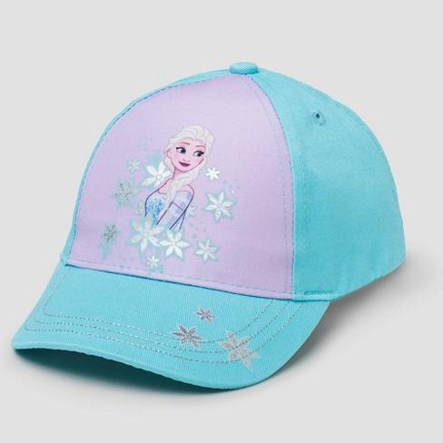 Toddler Girls' Disney Frozen Baseball Hat - Blue One size - image 1 of 1