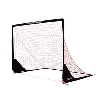 Rukket Sports 8 x 6 Foot Portable Indoor Outdoor Travel Kids Youth Practice Foldable Soccer Goal Net, Black