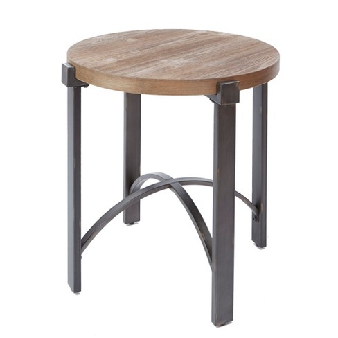 Silverwood Lewis End Table With Round Wood Top Brown - image 1 of 3