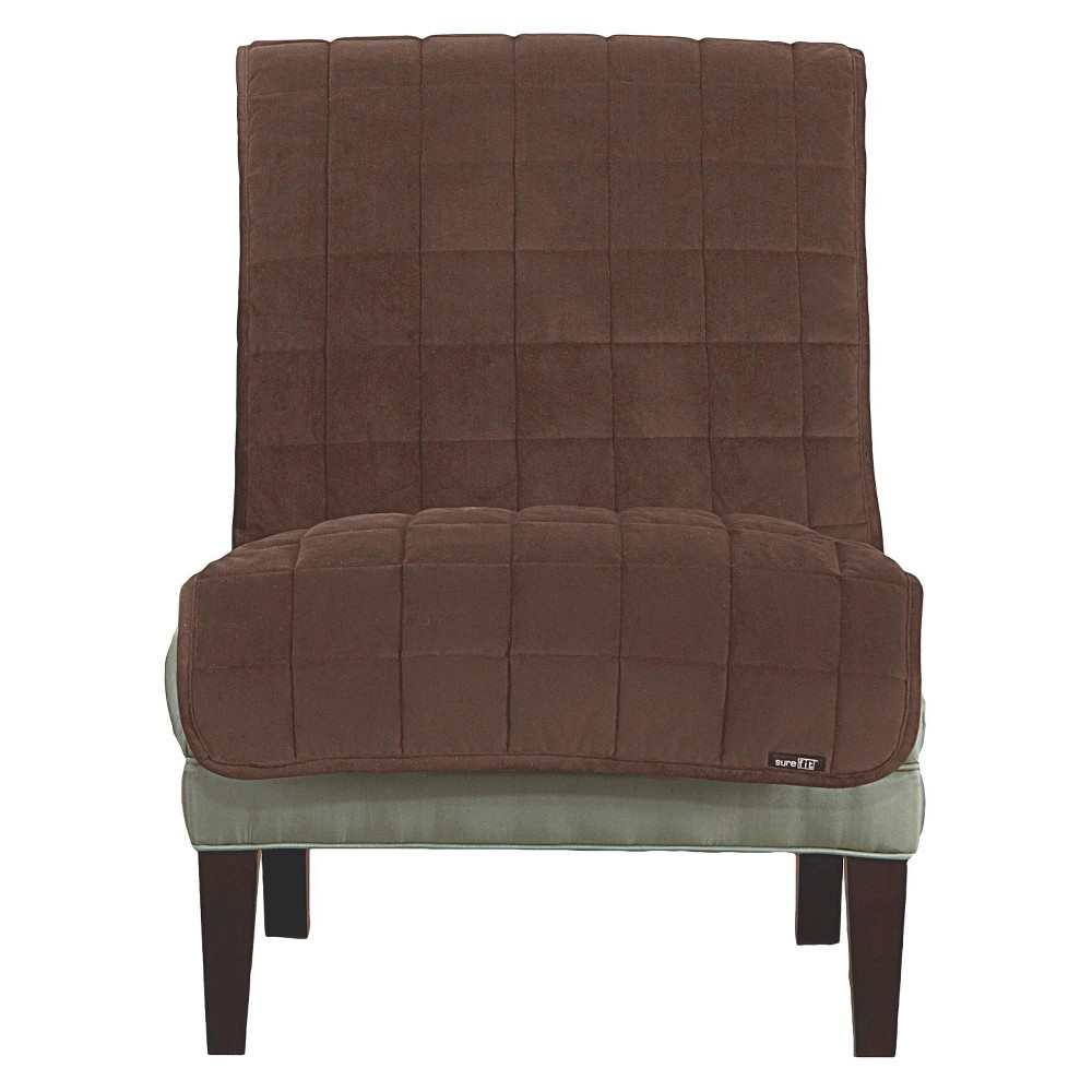 Best Buy Furniture Friend Deluxe Comfort Quilted Armless Chair Furniture Protector Chocolate Brown Sure Fit