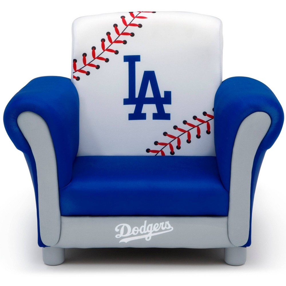 Image of Los Angeles Dodgers Kids Upholstered Chair - Delta Children