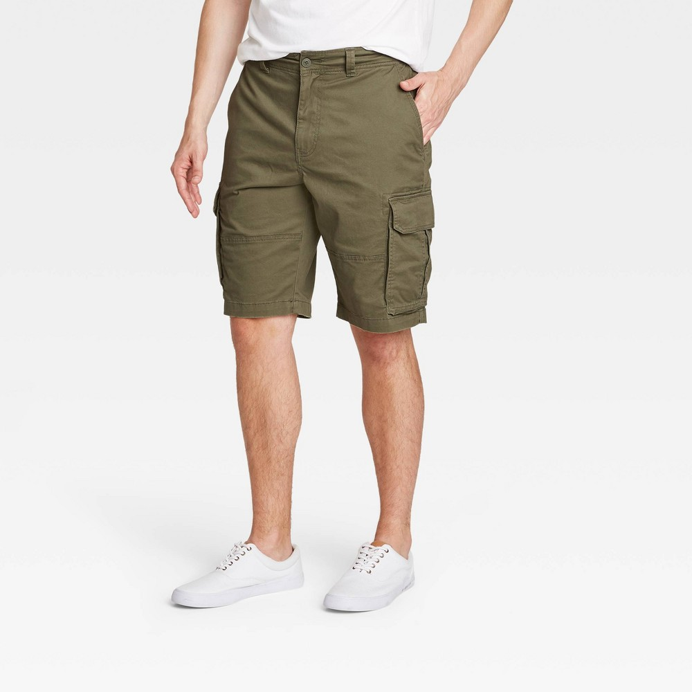 Men 39 S 11 34 Cargo Shorts Goodfellow 38 Co 8482 Olive Green 32