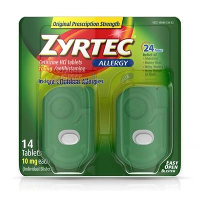 Zyrtec 24 Hour Allergy Relief Tablets - Cetirizine HCl