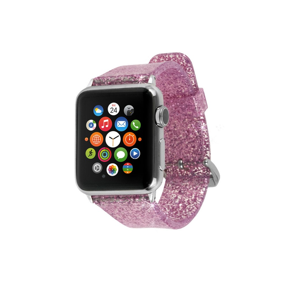 End Scene Apple Watch Band 38mm - Glitter Pink End Scene Apple Watch Band 38mm - Glitter Pink Gender: Unisex.