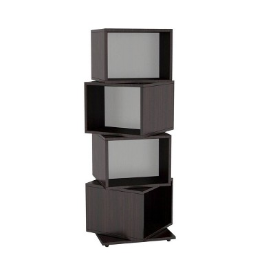 Multimedia Storage 4 Tier Rotating Cube Rack Espresso - Atlantic