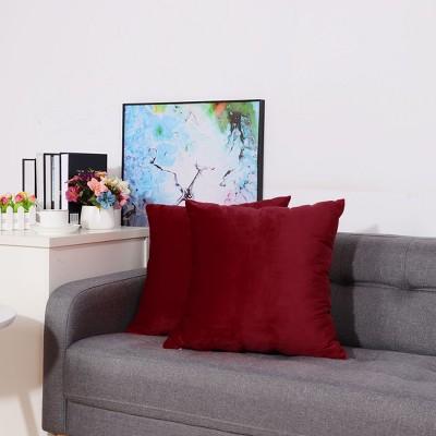 2 Pcs Velvet Solid color  Decorative Pillow Cover - PiccoCasa