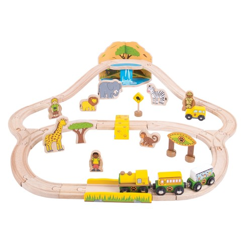 Bigjigs Rail Safari Wooden Railway Train Set - image 1 of 3