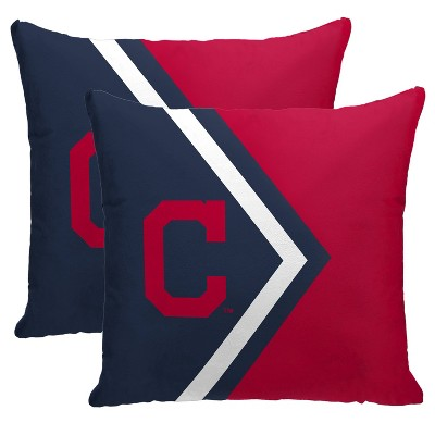 MLB Cleveland Indians Side Arrow Poly Span Throw Pillow - 2pk