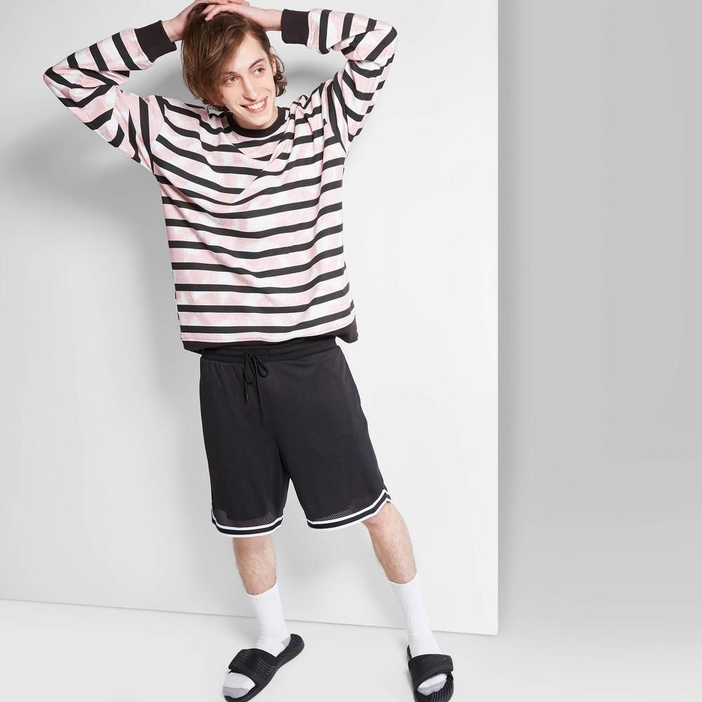 "Image of ""Men's 8.5"""" Mid-Rise Mesh Basketball Jogger Shorts - Original Use Black 2XL"""