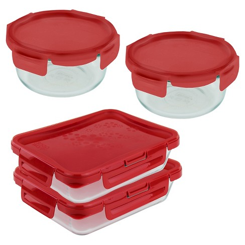 Pyrex 1 Cup 8 Piece 4-Lock Premium Storage Set - image 1 of 1