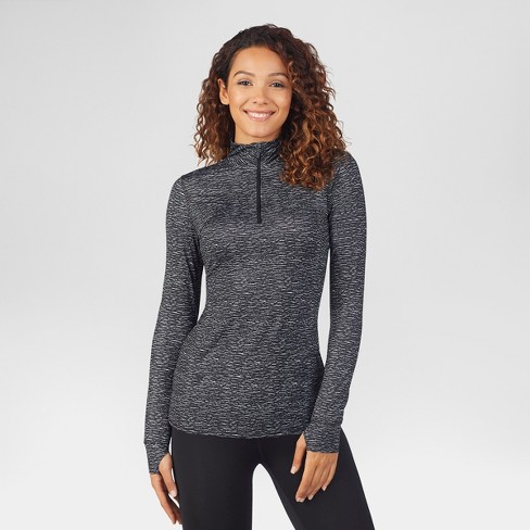 Warm Essentials® by Cuddl Duds® Women's Active 1/4 Zip Thermal Top - Black - image 1 of 3