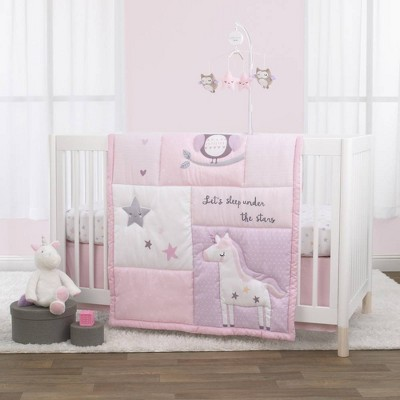 Little Love By Nojo Shine On My Love Girl Unicornite Crib Bedding Set - 3pc